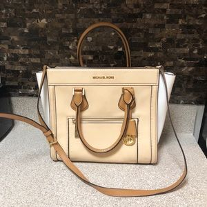 Michael Kors Colette Large Leather Satchel